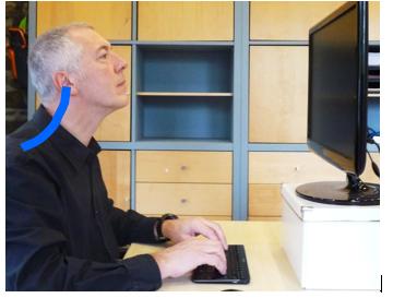 verkeerde scherm houding nek