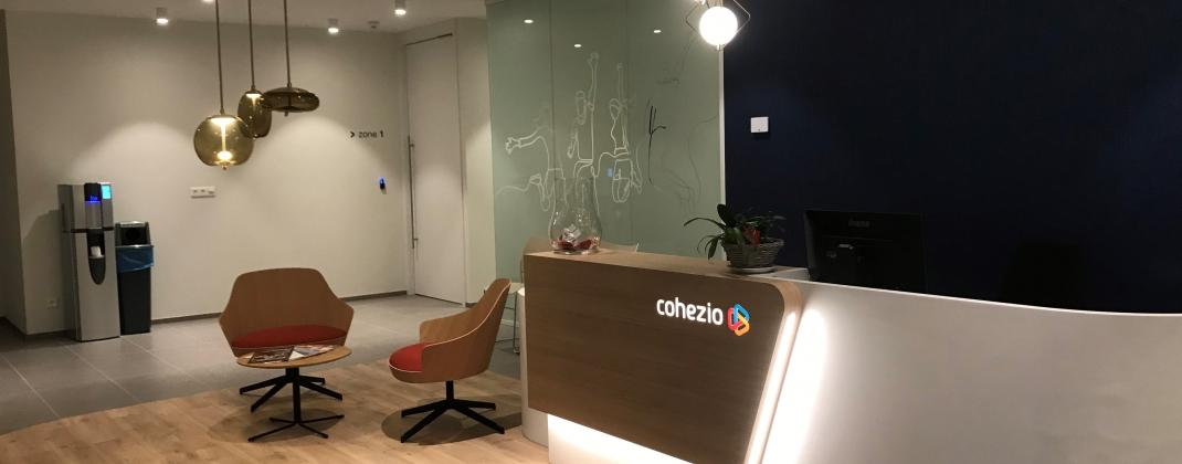 De nieuwe maatschappelijke zetel van Cohezio : een plaats om samen te werken