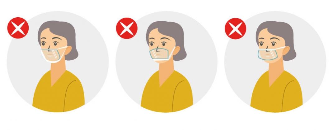 Les écrans buccaux ne sont plus autorisés dans les lieux où le port du masque est obligatoire !
