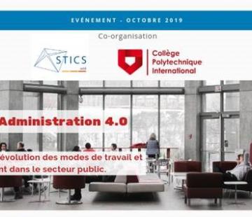 Une nouvelle révolution des modes de travail et de management dans le secteur public. Colloque Administration 4.0