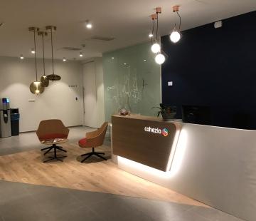 Un espace de collaboration différent pour le nouveau siège social de Cohezio